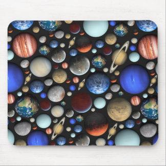 Mousepad Pilha do teste padrão temático do espaço dos