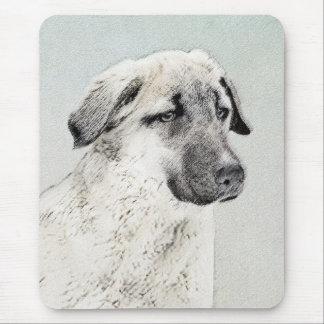 Mousepad Pintura anatólia do pastor - arte original do cão