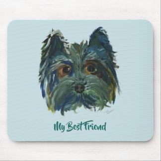 Mousepad Pintura bonito do filhote de cachorro de Yorkie no