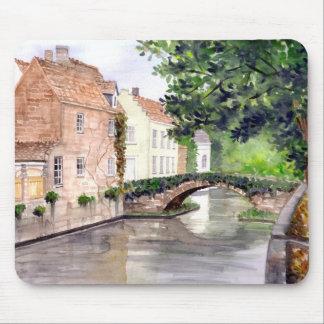 Mousepad Pintura da aguarela de Bruges pelo Greenfield de