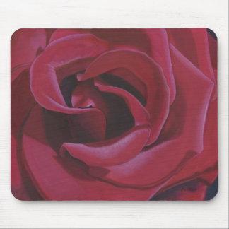 Mousepad Pintura da rosa vermelha -
