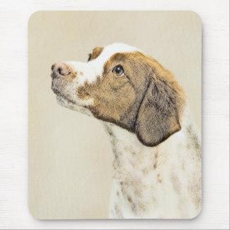 Mousepad Pintura de Brittany - arte original bonito do cão
