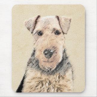 Mousepad Pintura de galês Terrier - arte original bonito do