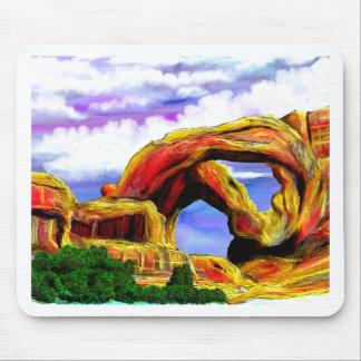Mousepad Pintura de paisagem dobro do arco