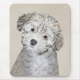 Mousepad Pintura do filhote de cachorro de Havanese - arte