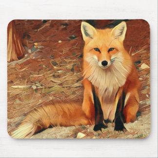 Mousepad Pintura do Fox vermelho