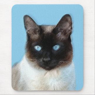 Mousepad Pintura do gato Siamese - arte original bonito do