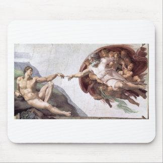Mousepad Pintura original de Michelangelo na capela Roma do