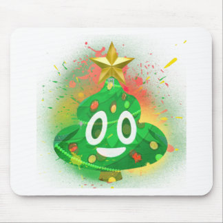 Mousepad Pintura pistola da árvore de Natal de Emoji