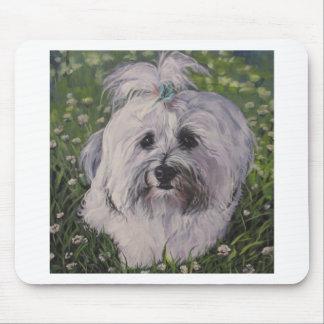 Mousepad Pintura realística bonita da arte do cão de
