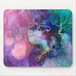 Mousepad pintura roxa colorida do teste padrão da textura