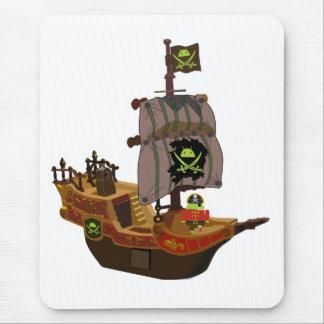 Mousepad Pirata Andy em um navio