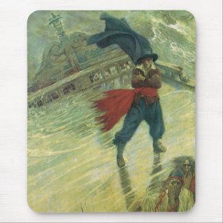 Mousepad Pirata do vintage, holandês de vôo por Howard Pyle
