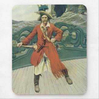 Mousepad Piratas do vintage, capitão Keitt por Howard Pyle