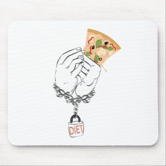 Mousepad Pizza saboroso e mãos dos desenhos animados
