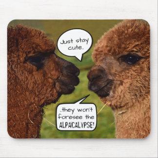 Mousepad Planejamento engraçado de Alpacalypse da alpaca