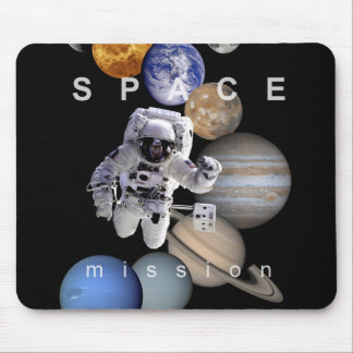 Mousepad planetas do sistema solar da missão espacial do