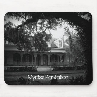 Mousepad Plantação dos Myrtles em preto e branco