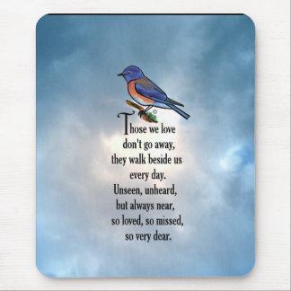 """Mousepad Poema """"assim amado"""" do Bluebird"""