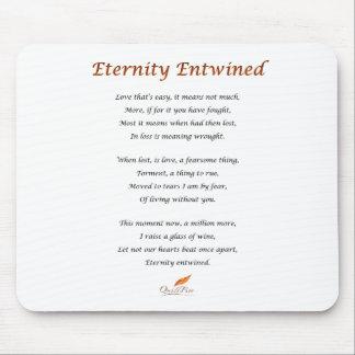 Mousepad Poema entrelaçado eternidade