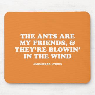 Mousepad Poemas líricos misheard tipográficos engraçados da