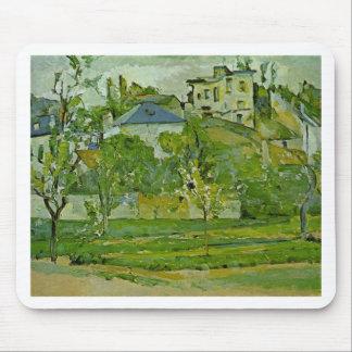 Mousepad Pomar em Pontoise por Paul Cezanne
