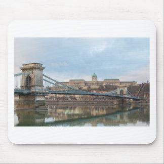 Mousepad Ponte Chain com castelo Hungria Budapest de Buda
