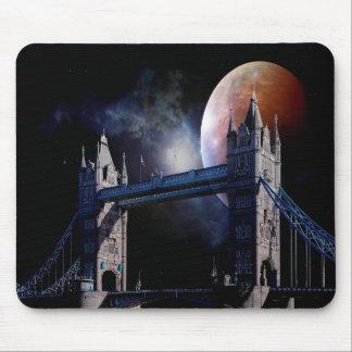 Mousepad Ponte da torre de Londres na noite com tapete do
