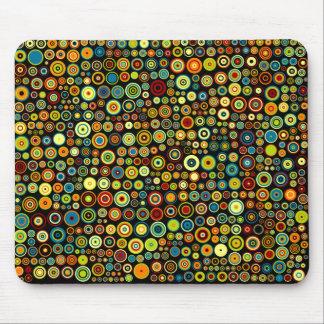 Mousepad Pontos coloridos brilhantes no estilo retro na