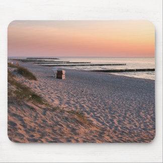 Mousepad Por do sol da praia de Ahrenshoop