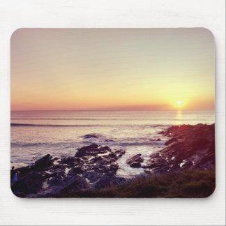 Mousepad Por do sol da praia de Fistral