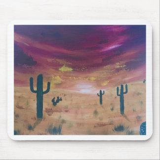 Mousepad Por do sol do deserto