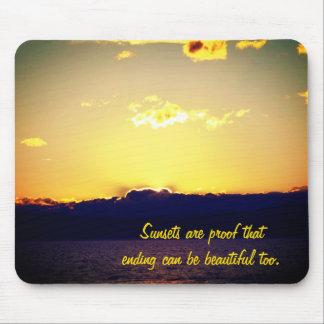Mousepad Por do sol e citações inspiradores