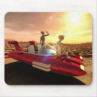 Mousepad Por do sol retro da ficção científica em Marte