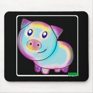Mousepad Porco colorido Vegan