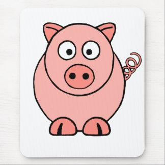 Mousepad Porco cor-de-rosa