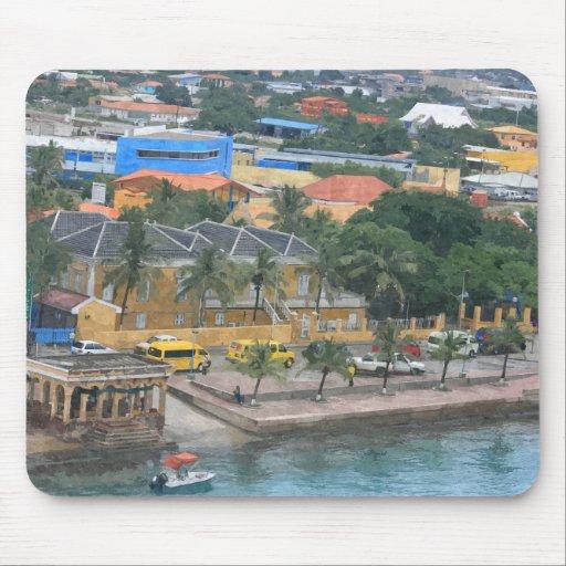 Mousepad, porto da ilha das Caraíbas