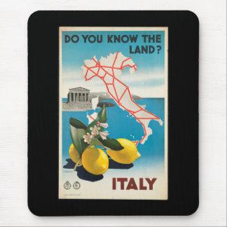 Mousepad Poster das viagens vintage de Italia - de Italia