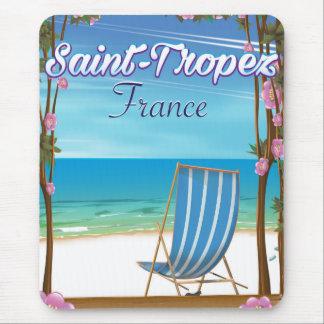 Mousepad Poster de viagens de France do Santo-Tropez