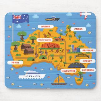 Mousepad Poster do guia do viagem de Austrália