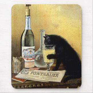"""Mousepad Poster francês retro o """"absinto burguês """""""