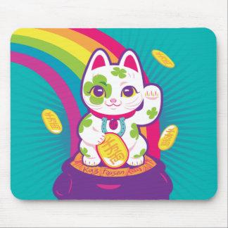 Mousepad Pote de boa sorte de Maneki Neko do gato de ouro