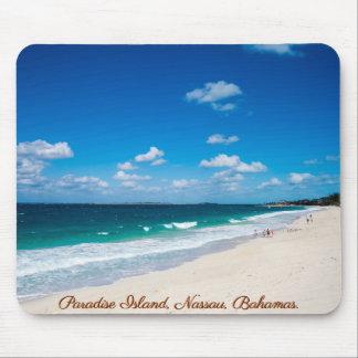 Mousepad Praia da ilha do paraíso, Nassau, Bahamas |