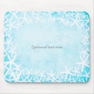 Mousepad Praia tropical azul pintada do Aqua da estrela do