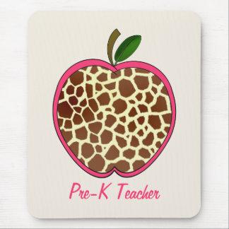 Mousepad Pre impressão Apple do girafa do professor de K
