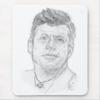 Mousepad Preaident John F. Kennedy esboçado em 1963