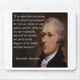 """Mousepad """"Presente do líder inimigo"""" de Alexander Hamilton"""