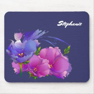 Mousepad Presente floral conhecido feito sob encomenda