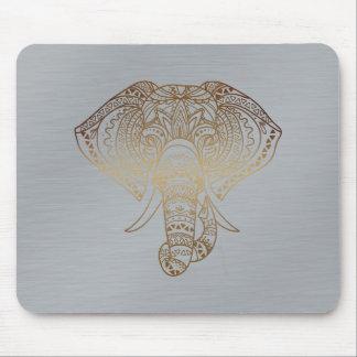 Mousepad Presente tribal do escritório da prata floral do