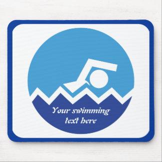 Mousepad Presentes da natação, nadador em um costume azul